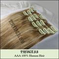"""15 """" 20 """" 22 """" женщины в реми человеческий волос прямой клипы в расширениях 7 шт. 75 g # 27 / 613"""