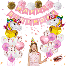 Unicorn Balloon Set Birthday Party Kids Decorations Jungle Themed or baby shower Supplies Banner