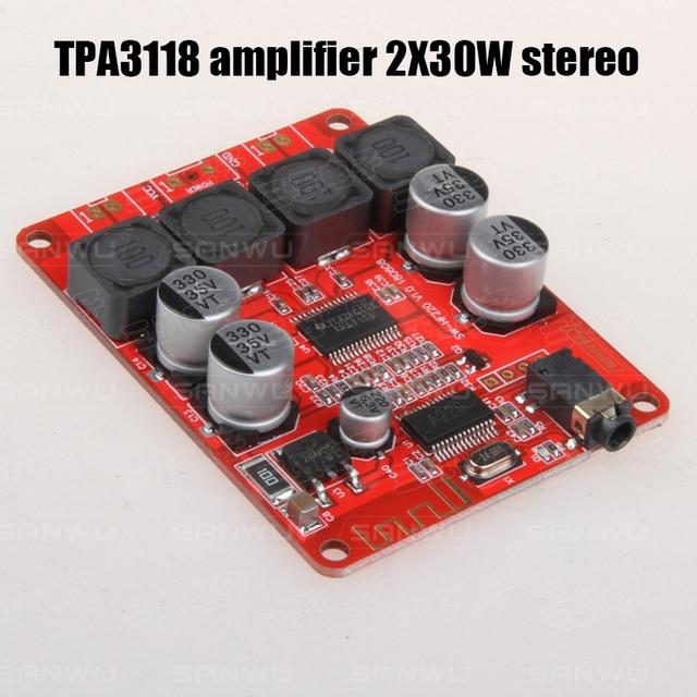 TPA3118 Bluetooth 5.0 דיגיטלי כוח מגבר 30 W + 30 W 2.0 streo אודיו מגבר לוח 8 ~ 26VDC