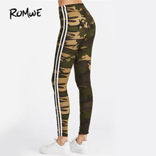 Fitness Leggings Women Striped Side Workout Legging Top Quality Fashion New Casual Skinny High Waist Leggings