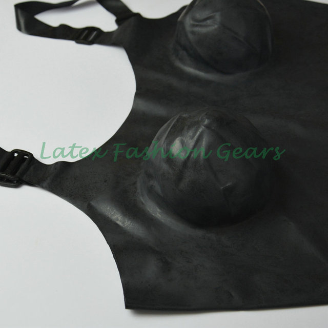 Black latex exotic dress rubber suspender belts clubwear