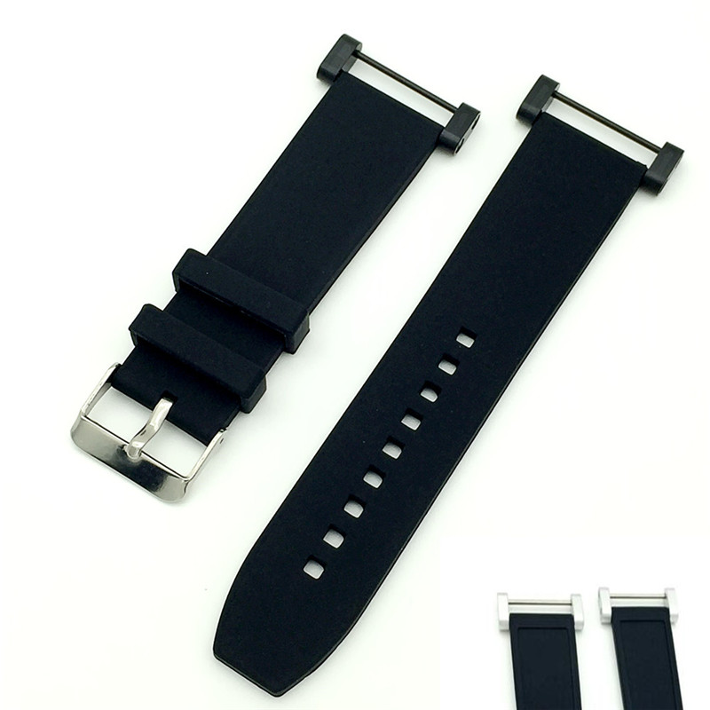 New Smooth For Suunto Core Series Watch Band Strap Rubber Silicone Gel Waterproof Strap+ Black / Silver Adapters+Tools Watchband