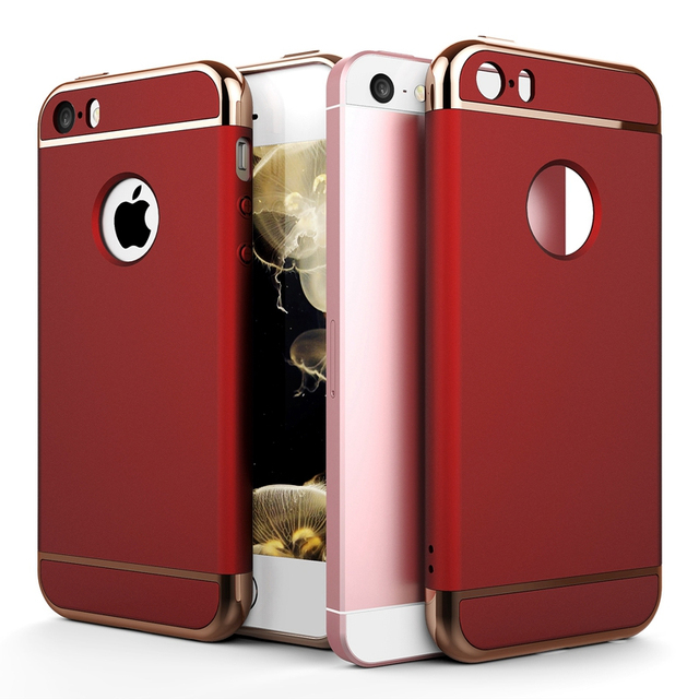 Roybens For IPhone 5S Case Red Slim Mat PC 5 SE Cover