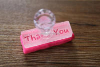 Free Shipping Custom Acrylic Glass Stamp Soap Stamp Cookie Stamp DIY Professional Custom Handmade Soap Seal