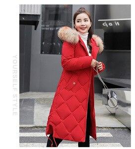 Image 1 - טוב באיכות חורף ארוך שלג ללבוש נשים כותנה מעיל ארוך שרוול עבה מעיל מוצק מקרית רוכסן נשים חולצות חם חורף בגדים