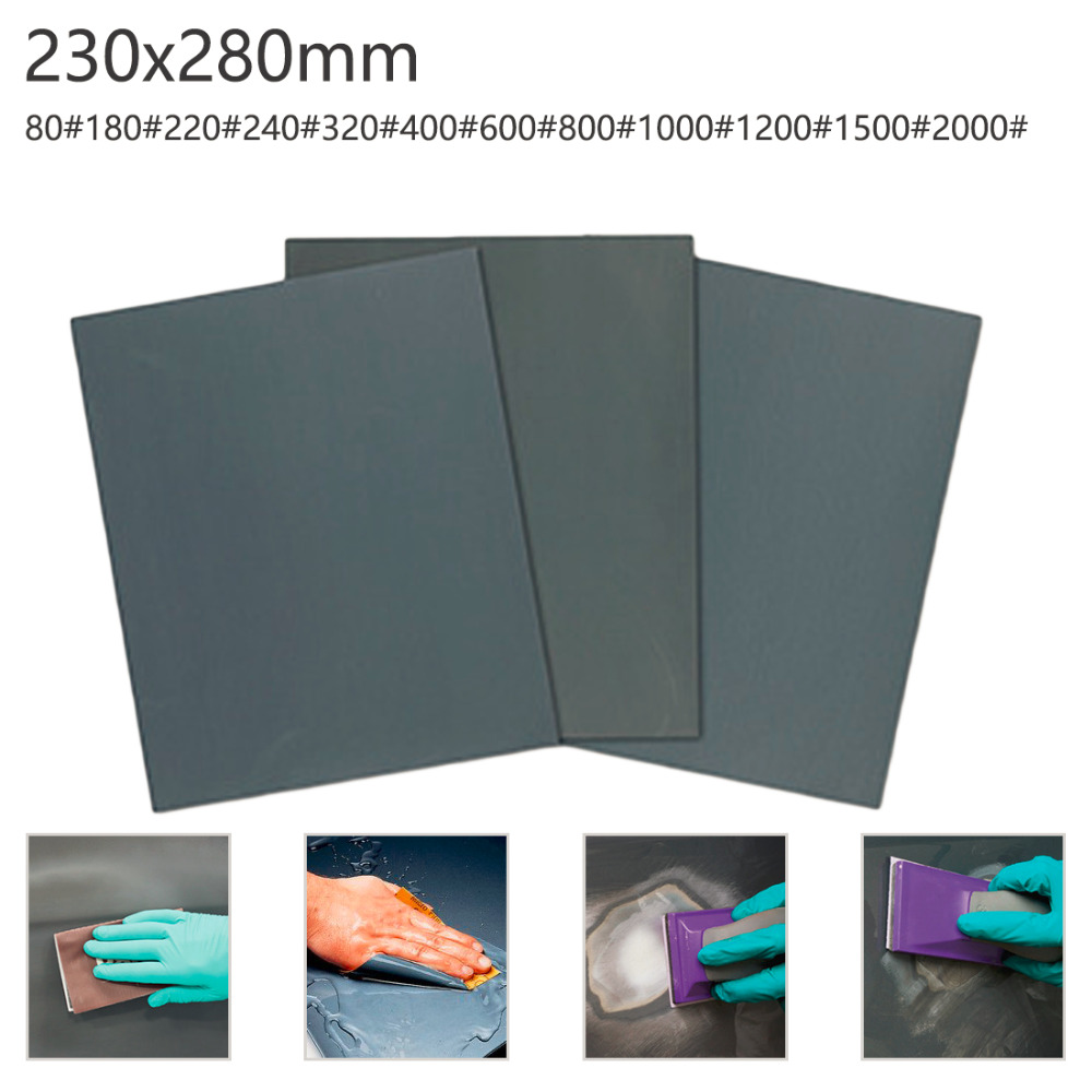 Sandpaper Grind 80-2000 Grits Sheet Surface Finish Abrasive Paper Wet Dry Tool Sand Wood Furniture Turning Polish Buffing