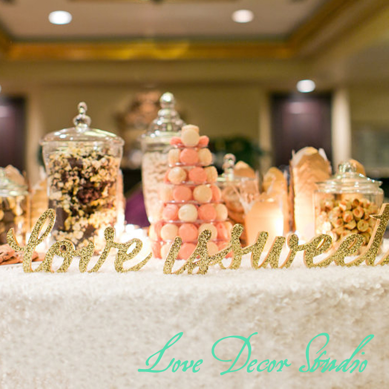 FREESTANDING Love Is Sweet Sign Set  Wedding Sign for Candy Desser  or Wedding Table Decor - Wooden Signs for Wedding FREESTANDING Love Is Sweet Sign Set  Wedding Sign for Candy Desser  or Wedding Table Decor - Wooden Signs for Wedding