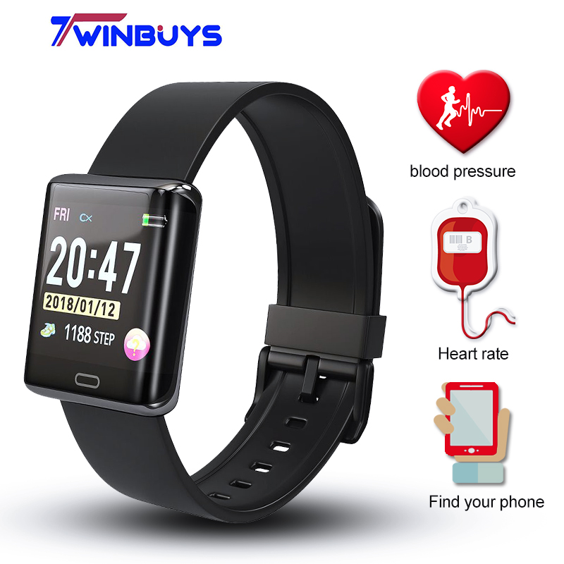 Twinbuys T11 1,3 zoll TFT Screen Smart Uhr Bluetooth 4,0 Herzfrequenz Schlaf Monitor Blutdruck Tracker Sport Armband