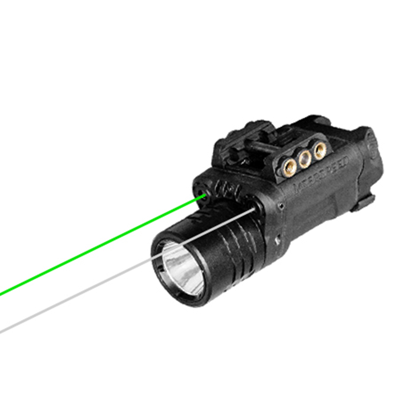 Drop shipping Dual aiming green laser and IR infrared laser sight with tactical flashlight combo