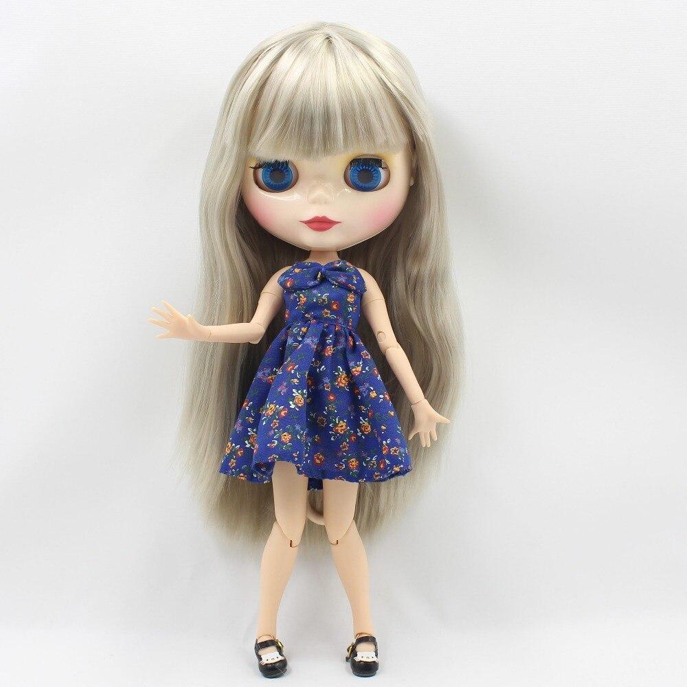 ตุ๊กตาบลายธ์ตุ๊กตา BL3167 สีเทาตรงผม joint body 1/6 30 ซม.bjd-ใน ตุ๊กตา จาก ของเล่นและงานอดิเรก บน   3