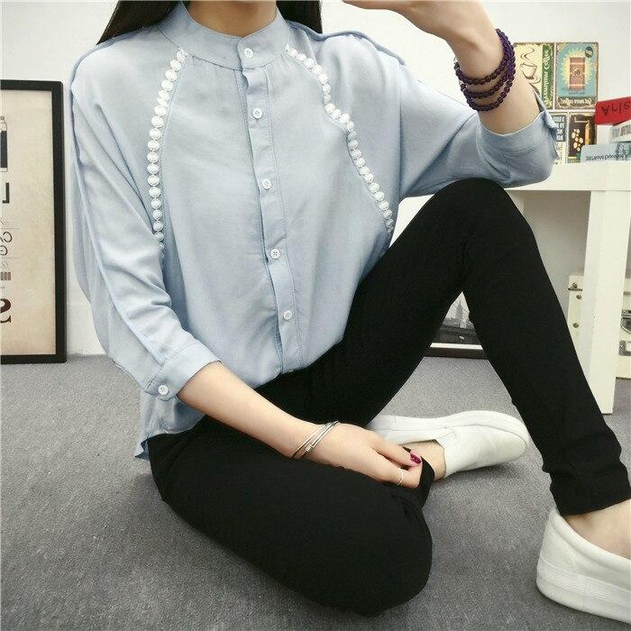 2017 nuevo de las mujeres de lino de algodón blusa camisa patchwork loose señora