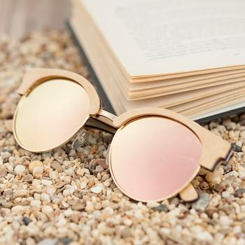 BOBO BIRD Vintage Polarized Wooden Sun Glasses