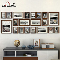 Wood Photo Frames Collage Picture Frame Photo Frames Wall Set European Frame For Pictures Porta Retrato