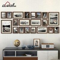 Деревянная фоторамка коллаж фоторамка фоторамки настенный набор Европейская рамка для фотографий Porta Retrato Moldura 20 шт./компл.