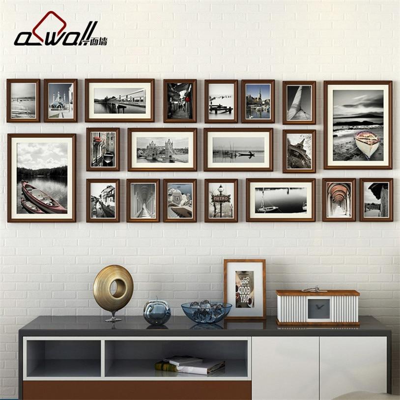 Holz Bilderrahmen Collage Bilderrahmen Bilderrahmen Wand Set ...