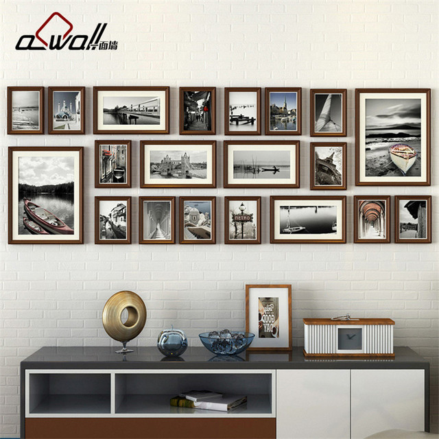 Wood Photo Frames Collage Picture Frame Photo Frames Wall Set