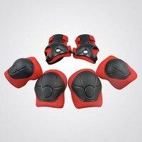 6 stks/set Kind Kniebeschermers Elleboog Pads Pols Handen Protector Knieschijf Kniebeschermers voor Scooter Rolschaatsen Fietsen Sport Veiligheid Set