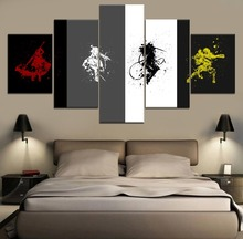 splash-ink painting RWBY Canvas Wall Art Painting Anime HD Print 5 Piece Modern Decor For Living Room