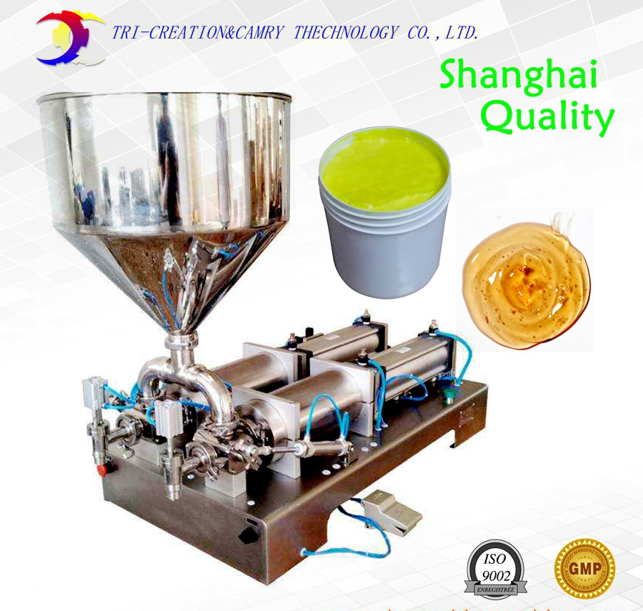 pneumatic horizontal paste filling machine,1L 2 nozzle sauce soap jam piston filling machine_shanghai factory shampoo lotion cream yoghourt honey juice sauce jam gel filler paste filling machine pneumatic piston filler with free shipping