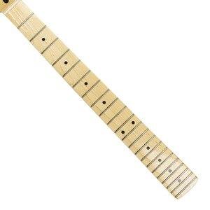 Image 4 - Fleor 1 Pcs 22 Frets Canadese Maple Gitaar Hals Elektrische Gitaar Hals Voor Fd St Strat Gitaar Hals Vervanging