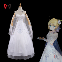 MMGG Fate Zero saber Cosplay Costume Arturia Pendragon Avalon cosplay wedding dress Fate stay night cosplay set custom made