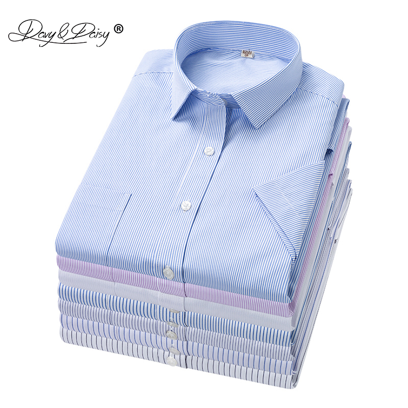 DAVYDAISY Plus Size 5xl <font><b>6xl</b></font> 7xl 8xl <font><b>Men</b></font> <font><b>Shirt</b></font> Summer Short Sleeve Striped <font><b>Shirts</b></font> Causal Work Dress <font><b>Shirt</b></font> Brand Clothes DS334 image