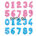 16'' Number Foil balloon pink Blue digit  Helium Balloons Birthday Party Decorations Baby birthday balloons globos Air Ballons