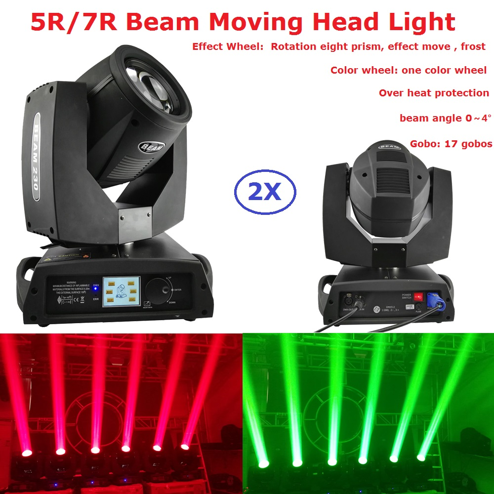 2Pcs In Flightcase 230W Beam 7R Moving Head Light Beam 200W 5R Stage Lighting Equipments For Disco DJ Party Stage Effect Lights factory price hot sales 2pcs lot 5r sniper stage light 5r lamp with zoom function scanner laser beam effect led stage lighting