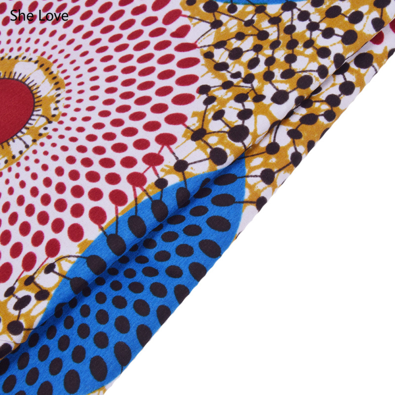She Love 1 Yard Ankara African Polyester Wax Prints Fabric  DIY Material For Garments Craft Making Accessories 8