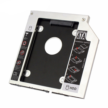 INGELON 12.7mm SATA 3.0 Interface Hard Drive Bracket SSD Adapter Optibay HDD Caddy DVD CD-ROM Enclosure Adapter Case for Laptop