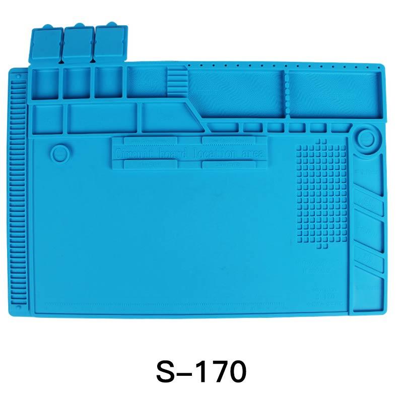 High Quality  S-170 480x318mm Silicone Pad Desk Work Mat Heat Insulation Maintenance Platform For BGA PCB Soldering Repair Tool