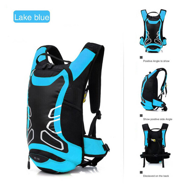 2014 new mini ultra-light 12 l waterproof backpack camping hiking biking outdoor running sports shoulder bag free shipping
