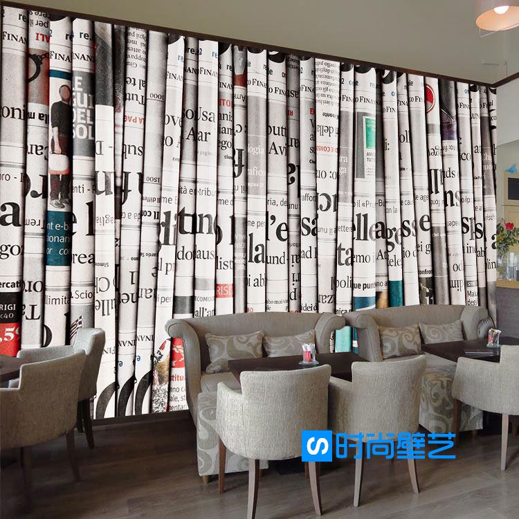 Custom Mural 3D European Book Study Office Bookstore Library Dining Room Background Magazine English