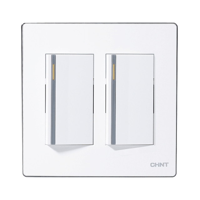 CHINT Light Switches 120 Type Electrical Light Switches Two Gang Two ...
