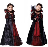 Vampire Princess Children Costume Evil Queen Snow White Kid Party Dress Performance Cosplay Cloth Halloween Costumes