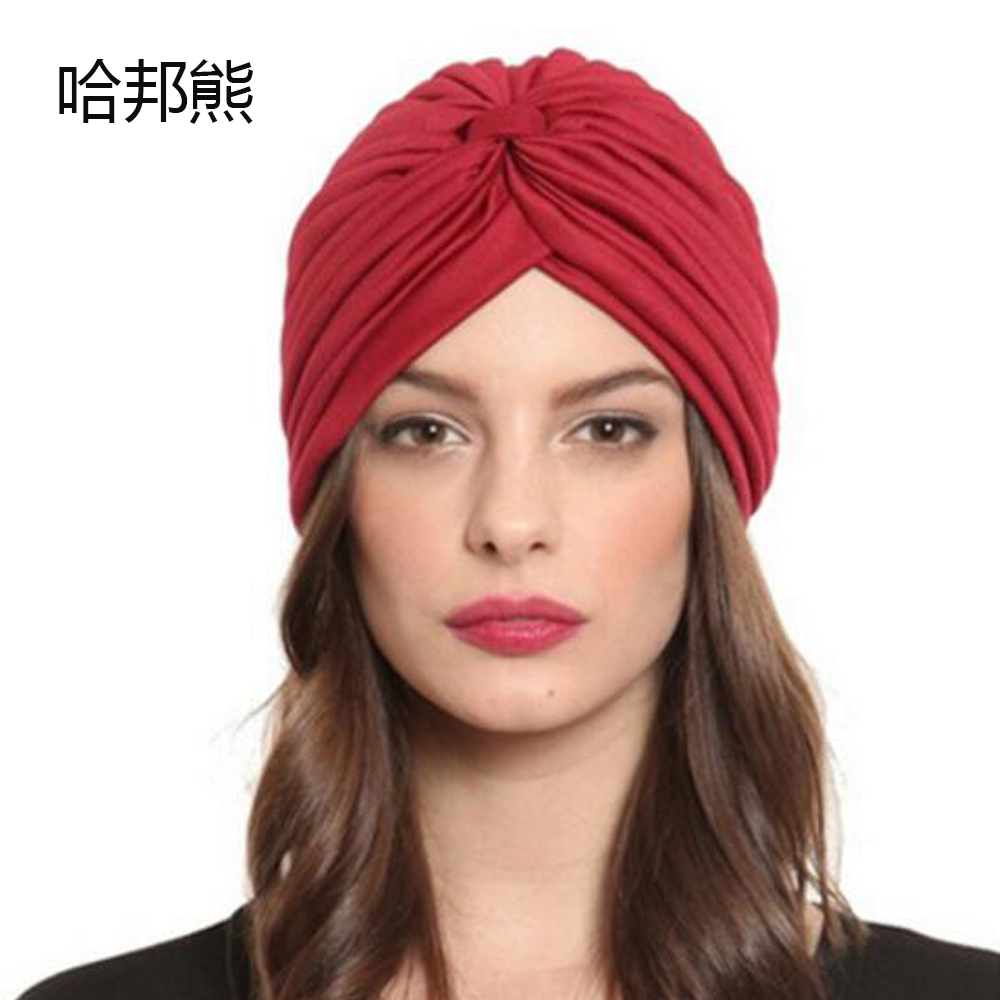 Unisex India Caps Women Turban Hat Skullies Beanies Girls' Knitted Caps Men Hearing Protectors Hats Shower Cap Winter Solid B063 35colors silver gold soild india scarf cap warmer ear caps yoga hedging headwrap men and women beanies multicolor fold hat 1pc