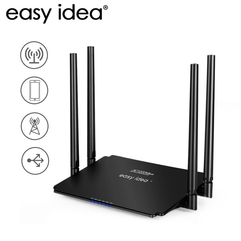 WiFi Router AC 1200Mbps Wireless Router Wi-Fi Smart APP Management WISP AP Mode High Power Dual Band 2.4GHz/5GHz Wifi Extender