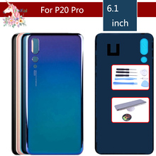 10pcs For Huawei P20 Pro CLT-L04 CLT-L09 CLT-L09C CLT-L29 CLT-L29C Battery Cover Back Housing Rear Door Case Panel
