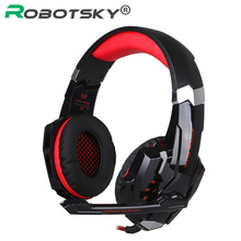 Robotsky Gaming Headphone 3.5mm Hifi Wired Headphone Game Hedset With Mic for Computer Phone