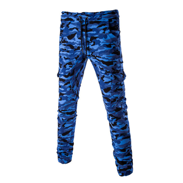 2017 new men casual pants camouflage slim fit army tactical pants pencil camo mens trousers casual sweatpants JPYG155