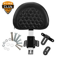 Motorcycle Adjustable Plug In Driver Rider Seat Backrest Pad Detachable For Harley Fatboy Heritage Softail 2007 2017