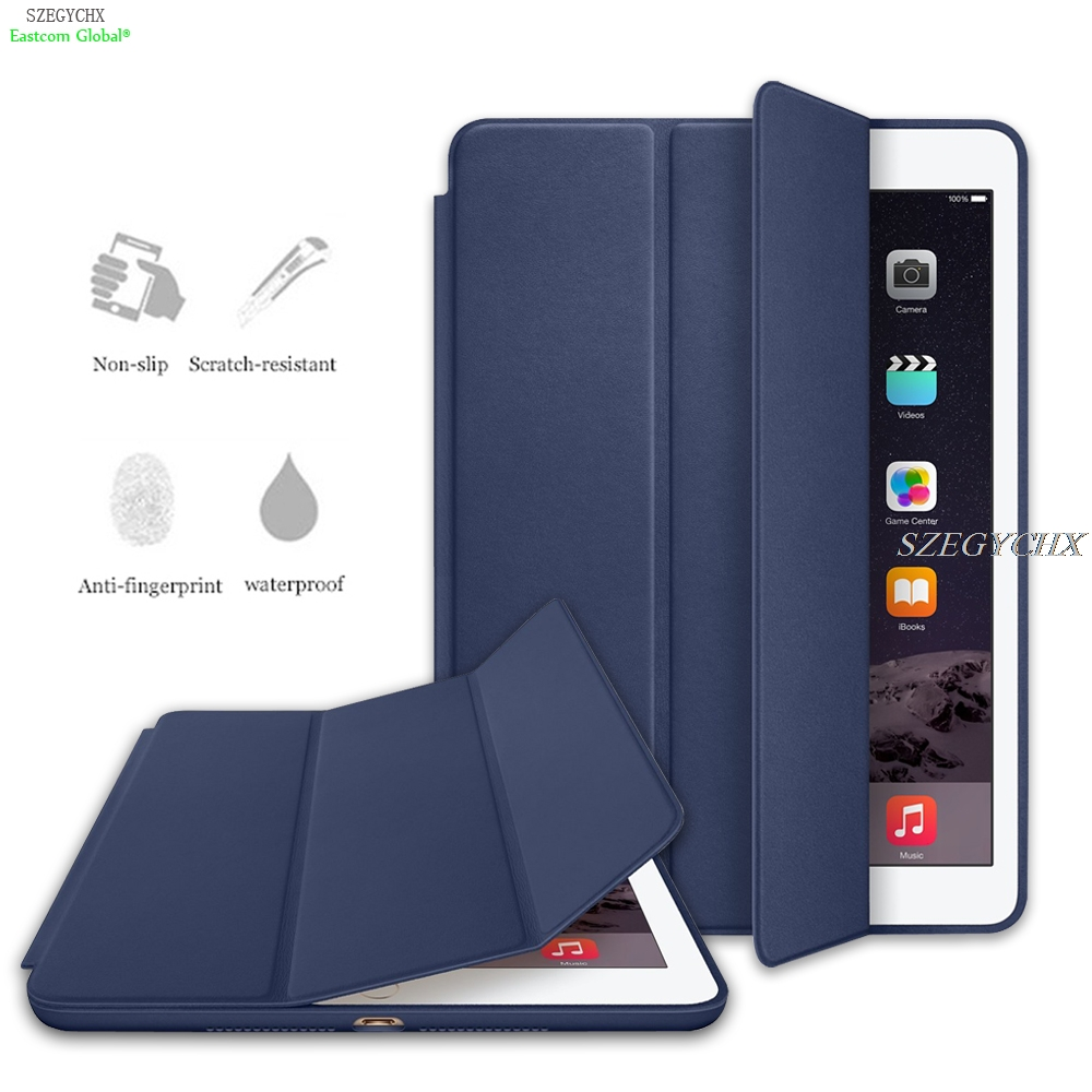Case For New iPad 9.7 2017 2018 , SZEGYCHX Original 1:1 Ultra Slim Smart Cover Stand For ipad case Auto Wake / Sleep with LOGO new detachable official removable original metal keyboard station stand case cover for samsung ativ smart pc 700t 700t1c xe700t