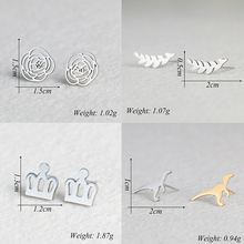 Fashion stud earrings for women girl Feamale mixed 8 style boucle d'oreille pendientes mujer jewelry Star dinosaur crown earring