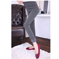 Winter Warm Thickened with Plus Velvet Elastic Waist Maternity Leggings High Waist Pregnancy Skinny Pencil Pants Trousers Retail