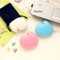 Usb Charging Hand Warmer Aluminum alloy Heater Safety Explosion Proof Electric Cake Mini Warm Baby Creative Gift