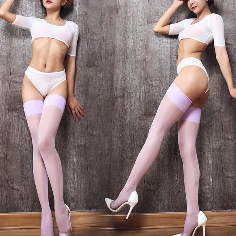 c8f358055f3df ... Sexy Nylon Stockings Thigh High Socks Women Summer Over The knee High  Socks Plus Size Stocking ...