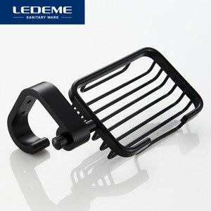 Image 3 - LEDEME Soap Dish Space Aluminum Soap Holder Shower Soap Dishes Bathroom Tray Accessories Wall Shelf Black Spray Paint L5502 1