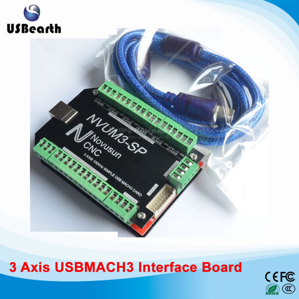New motion control economic type USBMACH3 4 Axis interface board for DIY CNC Router, Also have 3 Axis, 5 Axis, 6 Axis Card economic methodology