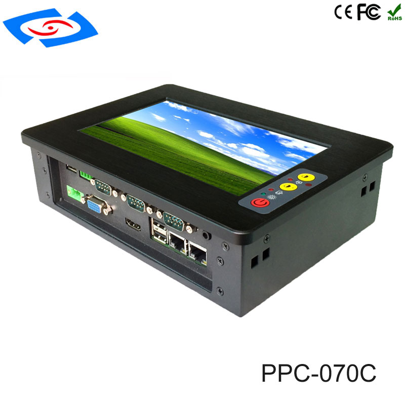 7 Inch Industrial Touch Screen Panel PC/Resistive Touch Screen Rugged Computer Support Customization With Membrane Switch