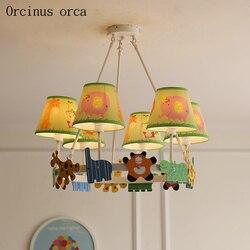 Kreatywny cartoon koń trojański żyrandol dla dzieci pokój chłopców i dziewcząt sypialnia nowoczesne okulary ochronne LED żyrandol
